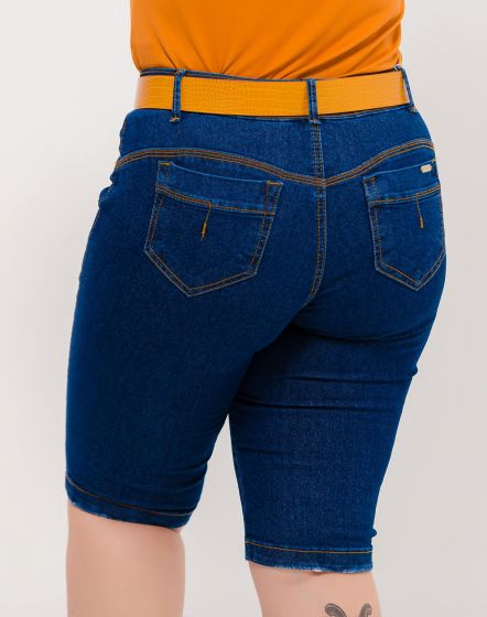 BERMUDA JEANS BLUE BLACK