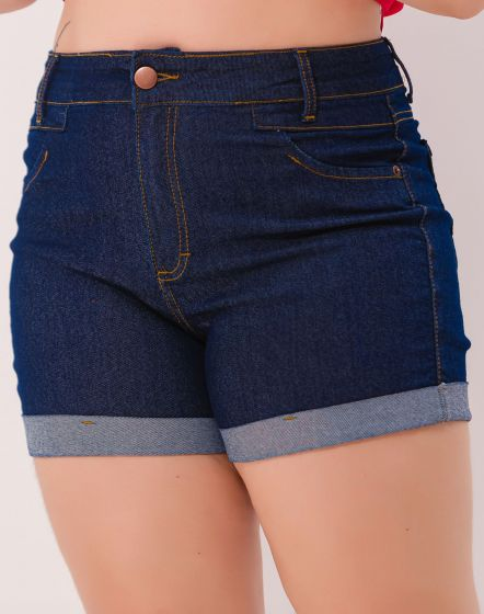 SHORT JEANS BLUE BARRA DOBRADA