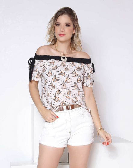 BLUSA CIGANA COM ESTAMPA