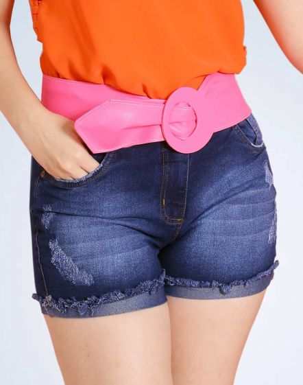 SHORT JEANS CURTO COM STRETCH