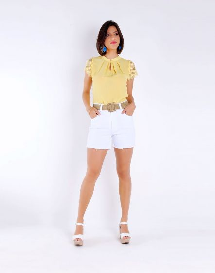 SHORT BRANCO HOT PANT