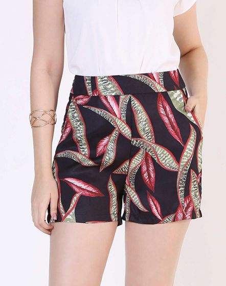 SHORT CURTO DE CREPE ESTAMPADO